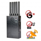 Portable 4G Lte 4G Wimax + 3G Cell Phone Jammer Signal Blocker