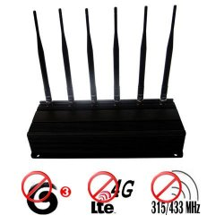 High Power 4G lte 3G Cell Phone + 315MHz 433MHz Signal Blocker Jammer