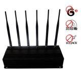 RF Jammer(315MHz/433MHz) + Lojack Blocker + 3G Mobile Phone Jammer 40 Meters