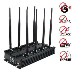 Adjustable 3G Mobile Phone GPS Lojack VHF UHF Wifi Jammer