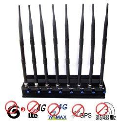 8 Antennas 16W 60 Meters 4G Lte Wimax 315Mhz/433Mhz GPS Signal Blocker
