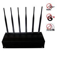 High Power RF Jammer(315MHz/433MHz) + 3G Mobile Phone Jammer 60 Meters