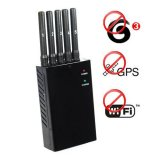 Portable 3G Mobile Phone Jammer + GPS Isolator + Wifi Scrambler