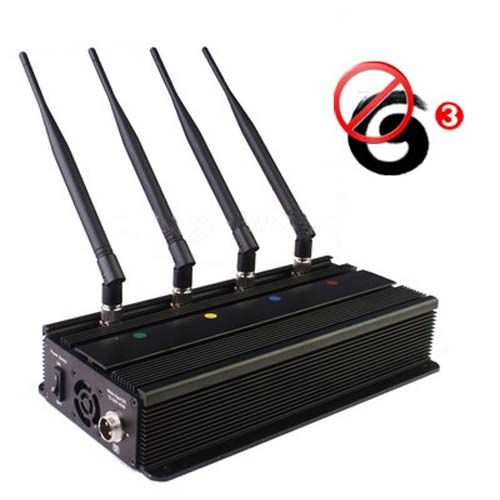 Gsm blocker - 5 Antenna Cell Phone jammer+ Remote Control (3G, GSM, CDMA, DCS)