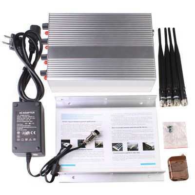 Remote Control 3G Mobile Phone GPS Signal Jammer Blocker