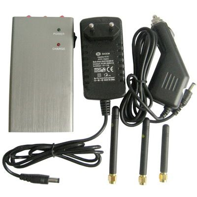 Handheld 3G Cellular Phone Signal Jammer Blocker 15 Meters