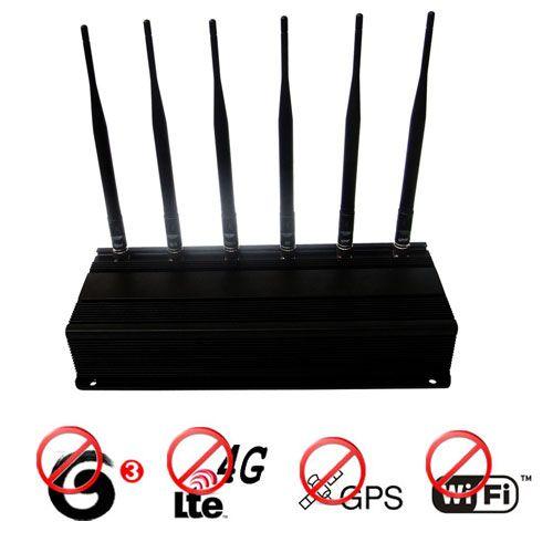 Car remote control jammer blocker - 8 Antennas 16W High Power 3G 4G Cell phone Jammer& WiFi Jammer