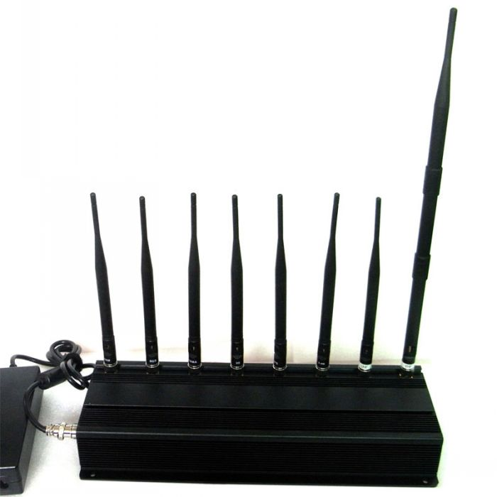 All in one Cellular Phone Signal Jammer GPS VHF UHF 8 Antennas High Power