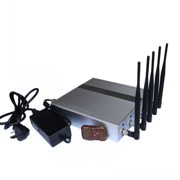 Remote Control Cellular Phone 4G Wimax + Wifi Signal Jammer