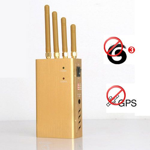 High Power GPS L1 Jammer + 3G Mobile Phone Blocker 15 meters