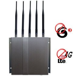 4G lte 3G GSM CDMA DCS PCS Mobile Phone Jammer with Remote Control