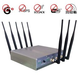Ultimate 8 Antenna 3G Cellular Phone GPS Lojack Wifi 315Mhz 433Mhz Jammer