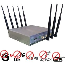 15W High Power 4G lte + GPS + Lojack + Wifi Signal Jammer 50 Meters