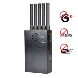 Portable 3G + GPS + Wifi Mobile Phone Signal Jammer
