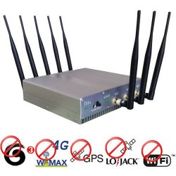 15W High Power 4G Wimax + GPS + Lojack + Wifi Signal Blocker 50 Meters