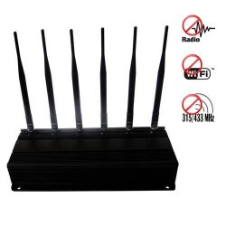 RF Jammer(315MHz/433MHz) + Wifi Blocker + Mobile Phone Jammer 40 Meters