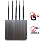 4G Wimax 3G GSM CDMA DCS PCS Mobile Phone Jammer with Remote Control