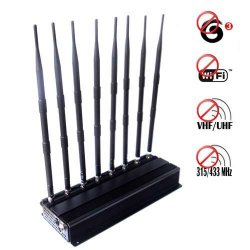 Adjustable High Power 3G Wifi VHF UHF 315Mhz 433Mhz Signal Scrambler