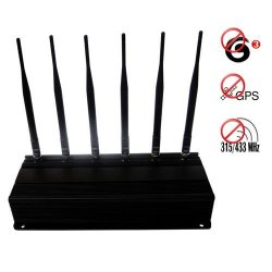 RF Jammer(315MHz/433MHz) + GPS Blocker + 3G Mobile Phone Jammer 40 Meters