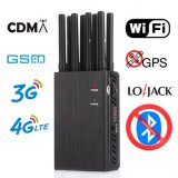 Portable 8 Bands Portable Cell Phone Jammers 2G 3G 4G LTE Wimax 5G Evolution WIFI GPS