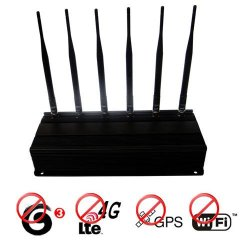 Adjustable 12W 6 Antenna 4G lte 3g + GPS + Wifi 2.4G Signal Blocker