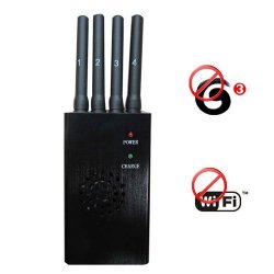 Advanced Portable Wifi + 3G GSM CDMA DCS PCS Signal Jammer 20 Meters