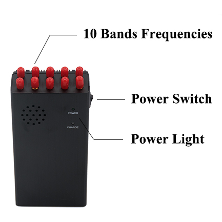 10 Antennas High Power Military 4G LTE Wimax 3G 2G Cell Phone GPS L1 Lojack WIFI VHF UHF Jammer