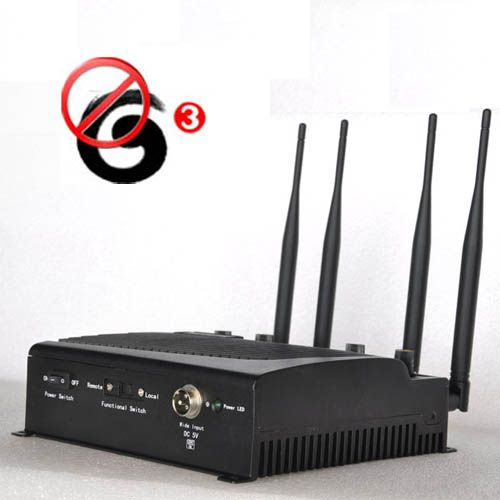 Adjustable 3G Cell Phone Jammer with Remote Control 40 Meters