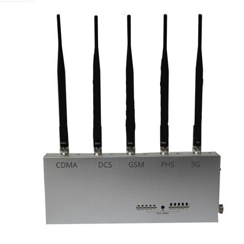 3G Mobile Phone Jammer with Remote Control 5 Antennas 25 Meters