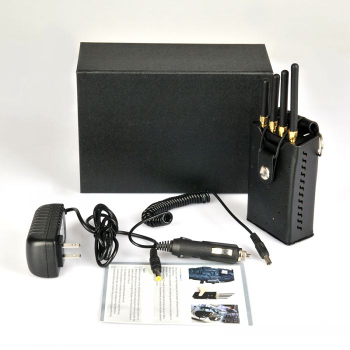 Portable 4G lte 3G Cell Phone Jammer with Cooling Fan