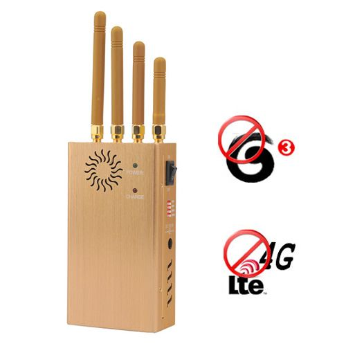 Portable 4G lte 3G Cellular Phone Signal Blocker Jammer