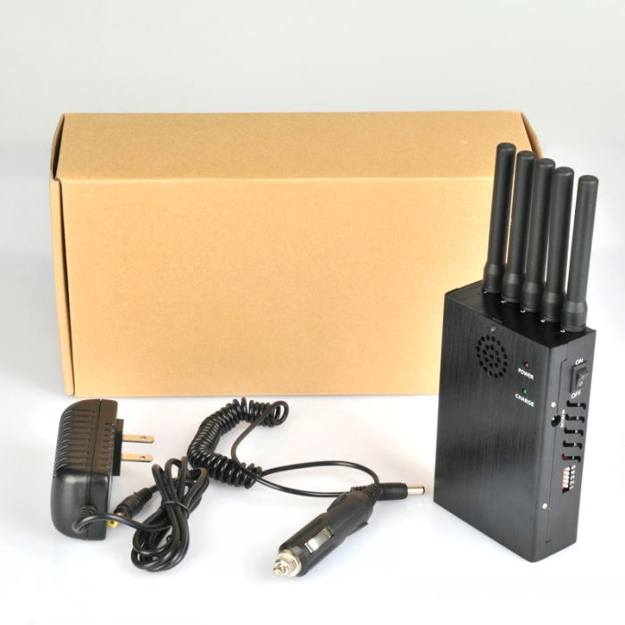 Portable 4G Lte 3G + Wifi 2.4G Cell Phone Jammer with Cooling Fan