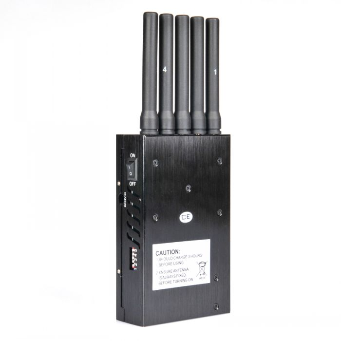 Portable 4G LTE 3G + GPS Mobile Phone Jammer with Cooling Fan