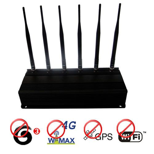 12W 6 Antenna 4G Wimax 3g Mobile Phone + GPS + Wifi 2.4G Signal Blocker
