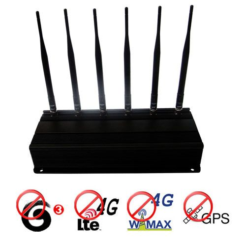 Adjustable 4G lte 4G Wimax 3G Cellphone + GPS Signal Jammer Blocker