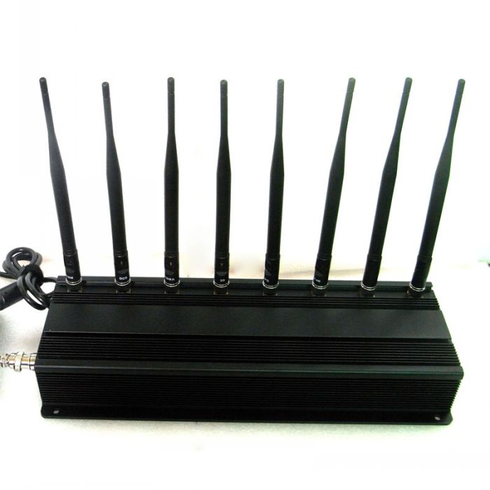 All in one Mobile Phone Signal Blocker Wifi VHF UHF 8 Antennas High Power