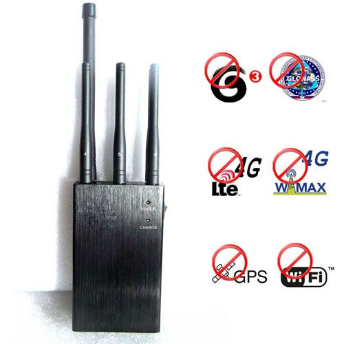 Portable Glonass L1 L2 GPS Wifi 3G 4G Signal Jammer 20 Meters